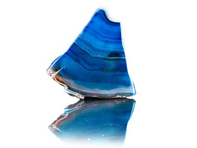 agat naturalny błękitny