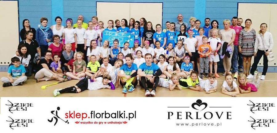 Zakończenie sezonu ipodziękowanie od klubu Dzikie Gęsi Zielonka za upominki do firmy Perlove.