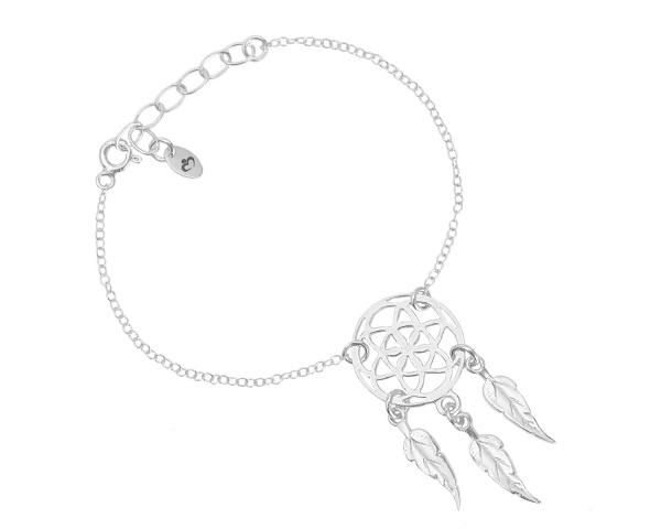 5c1b12bf09cfcd Srebrna bransoletka Łapacz Snów to modna biżuteria ze srebra próby 925.