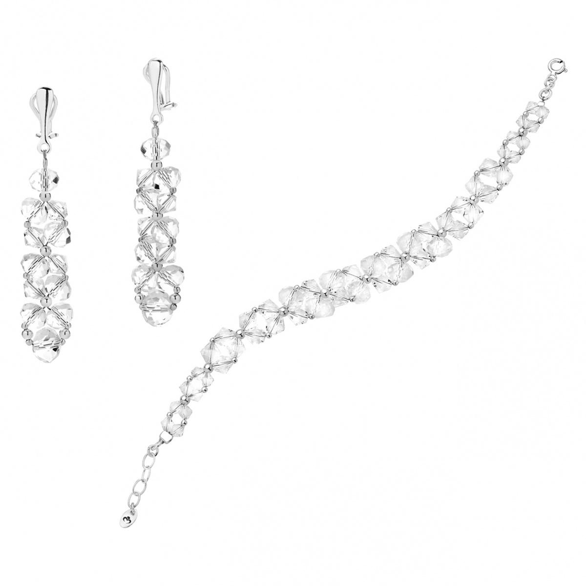 da4be2a76e8f Komplet Biżuterii Swarovski z Klipsami - Komplety biżuterii ...